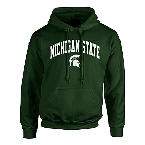 (Elite Fan Shop NCAA Men's Michigan State Spartans Hoodie Sweatshirt Team Color Arch Michigan State Spartans Green)