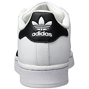 adidas Originals Superstar J Casual Low-Cut Basketball Sneaker (Big Kid),White/Black/White,6 M US Big Kid