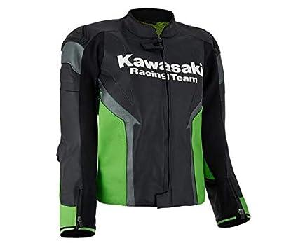 Kawasaki KRT - Chaqueta de cuero para hombre, color negro y ...