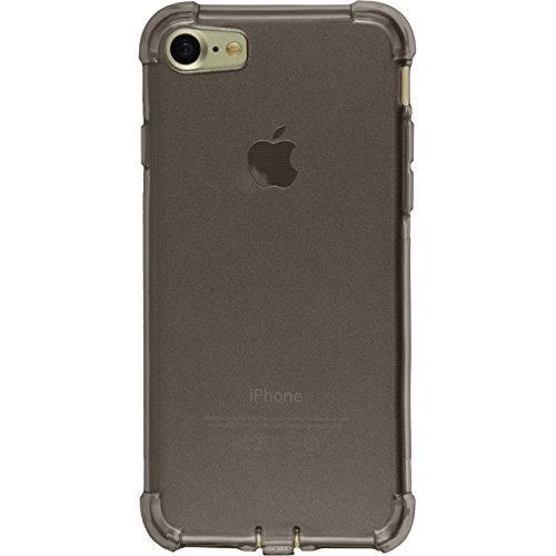 PhoneNatic Case für Apple iPhone 8 Hülle Silikon grau Shock-Proof Cover iPhone 8 Tasche + 2 Schutzfolien