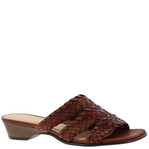 David Tate Womens Slide - David Tate Womens Adagio Open Toe Casual Slide Sandals, Cognac, Size 9.0