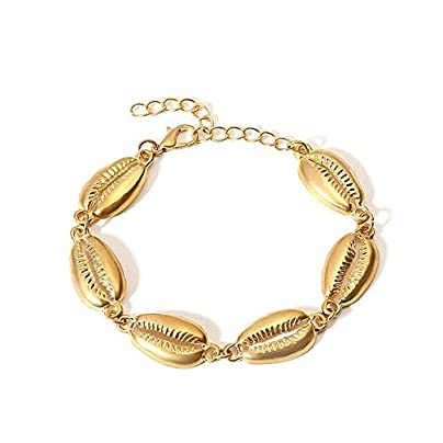 ZUOZUO Leather Wristband Bracelet Gold Shell Shell Bracelet Beach Shell Lady Bracelet Jewelry Estimated Price £17.99 -