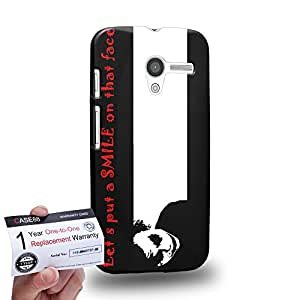 Case88 [Motorola Moto X (1st Gen)] 3D impresa Carcasa/Funda dura para & Tarjeta de garantía - Art Fashion Design let's put a smile on that face