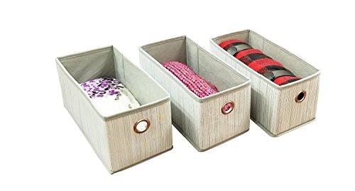 Adorn Insta-Shelf Set of 3 Foldable Accessory closet bins Drawer Organizers (Fits as shoe drawers for Adorn 10-tier Hanging Shoe Organizer) (Fit Drawer Organizer)
