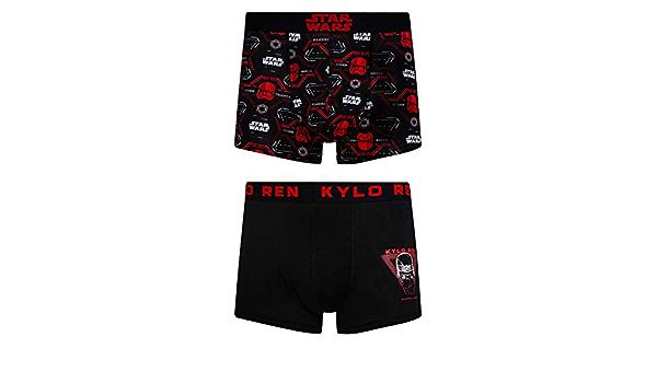 Disney Star Wars Kylo Ren - Juego de 2 boxeadores hipsters para hombre