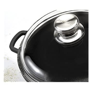Eurocast Professional Cookware Glass Lids. Oven Proof Pyrex Lids with Patented 3 Dimple Lip for Steaming, Draining, and Venting (11 )