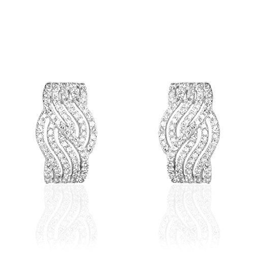 HISTOIRE D'OR - Boucles d'Oreilles Or - Femme - Or blanc 375/1000