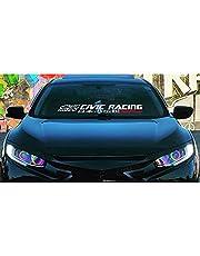 Windshield Decal Japanese Sticker Banner Kanji Racing for Civic EK EG Car Vinyl