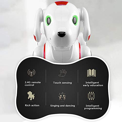 FZTX-LPX Roboter Hund Fernbedienung Intelligente Roboter Hund Kinder Smart Robot Dog Interaktion Spielzeug Sprechen Elektronische Pet Spielzeugtouch Control Programmierbar,Rot