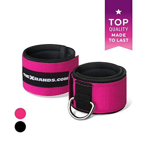 The x Bands Ankle Straps for Gym Cable Machine and Resistance Bands 2 Padded Fitness Cuffs for Men and Women - Best for Exercise Equipment, Booty Bands, Weight Lifting, Leg Workout, Glutes, Quads