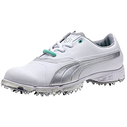 PUMA BioPro Golf Shoes 2015 Womens White/Silver Metallic Medium 5.5 by PUMA