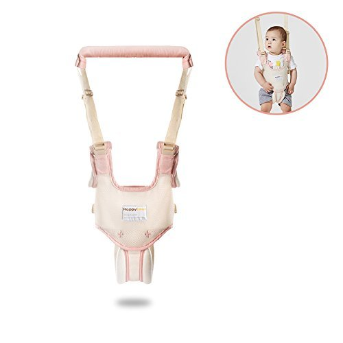 HaloVa Baby Walker, Walk-learning Handheld Harness Kid Keeper, Safety Anti-lost Fall-protecting Helper for Toddlers Kids Boys and Girls 10-36 months old, Pink