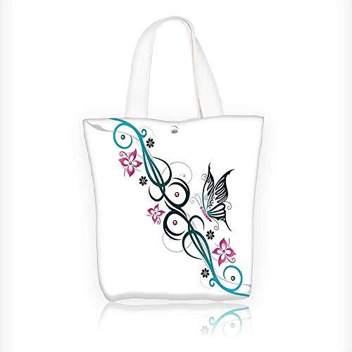 Women's Canvas Tote Handbags Heart Angel Winged Skull like Silver Mask Art Black White and Grey Casual Top Handle Bag Crossbody Shoulder Bag Purse W16.5xH14xD7 INCH (Handbag Heart Winged)