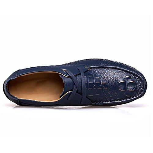 de Hombre Trabajo Zapatos Blue al Zapatos Zapatos de Casuales Encaje de Zapatos Libre Zapatos Aire W55Ywq86r