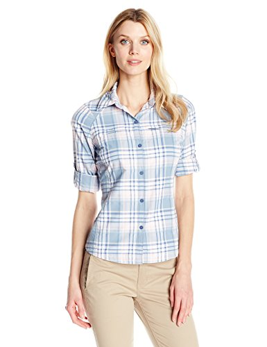 Columbia Women's Silver Ridge Long Sleeve Plaid Shirt, Beacon Dobby Plaid, (Ladies Beacon)