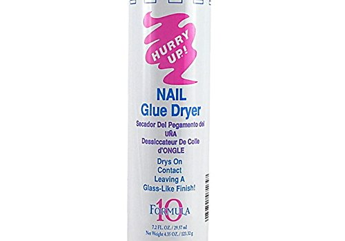 Amazon.com : New Hurry Up GLUE SPRAY ACTIVATOR Nail Glue Dryer.Dries all nail glues instantly. It works with liteless gels, silk, linens, fiberglass wraps, ...