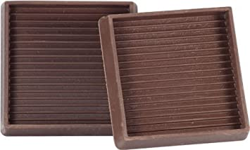 Caster Cup 3 X3 Brown Rubber Set Of 4 Furniture Pads