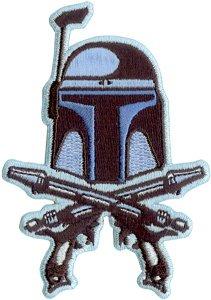 Star Wars   Clone Wars Lucas Films Movie Embroidered Iron On Patch   Jango Fett Bounty Hunter Crossed Pistols Sw47