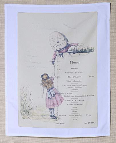 Sherry Chocolate - Louis Sherry 1884 Menu Art 100% Cotton Kitchen Towel