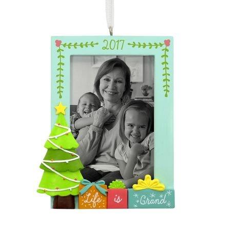 Hallmark 2017 Grandkids Photo Holder Christmas Tree Ornament, New in (Hallmark Photo Holder)