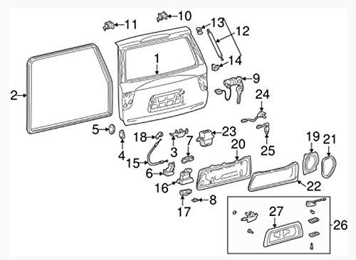 Genuine Toyota 69301-0C010 Back Lock Sub-Assembly