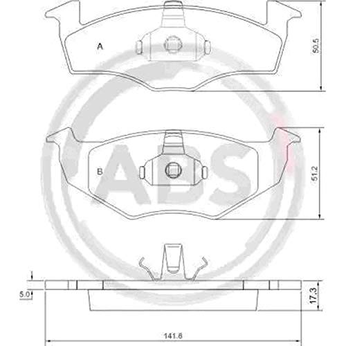 Kit 4 pastiglie freno posteriori ECP Kit 4 pastiglie freno anteriori Abs Ecommerceparts 9145375006552