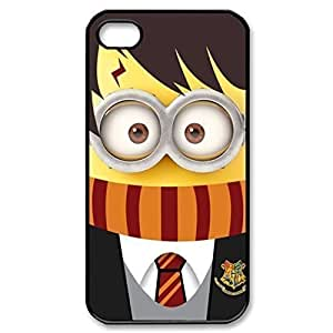 SUUER Rubber Silicone cute minion Harry Potter Designer Personalized Custom Plastic Rubber Tpu CASE for iPhone 4s 4s Durable Case Cover