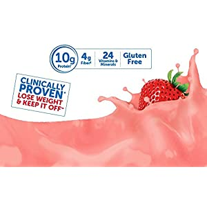 SlimFast – Original Meal Replacement Shake Mix Powder – Weight Loss Shake – 10g of Protein – 24 Vitamins and Minerals Per Serving – Great Taste – 12.83 oz. – Strawberries and Cream