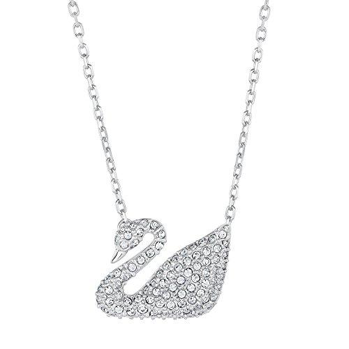 f0211232ad64fa Amazon.com: Swarovski Crystal Swan Necklace: Pendant Necklaces: Jewelry