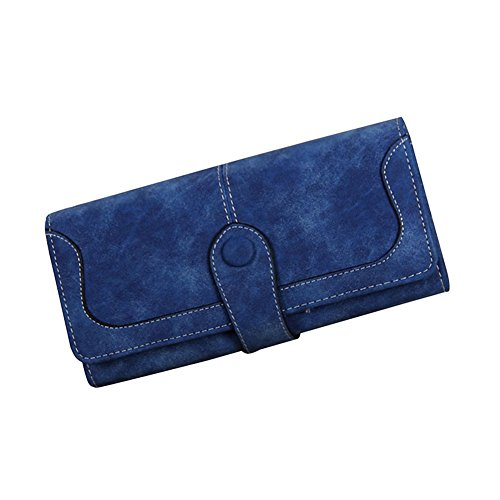 Suede Women Leather (TJEtrade Wallets for Women Suede Leather Purses Luxury Clutch Card Holder Cute)