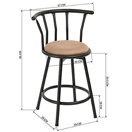 1 sgabelli da bar 24 pollici stile industriale Vintage sedie di bar ...