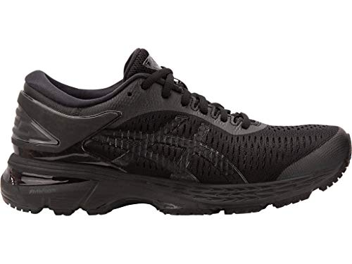 ASICS Women's Gel-Kayano 25 Running Shoes, 6M, Black/Black