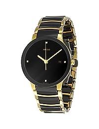 Rado Men's R30929712 Centrix Jubile Gold Plated Stainless Steel Bracelet Watch by Rado