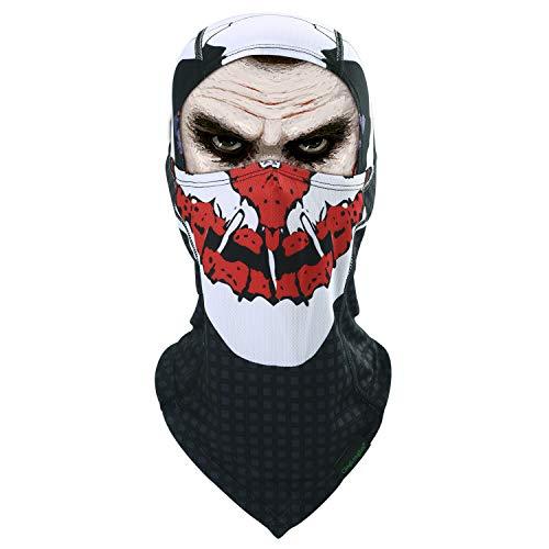 Balaclava Clown Mask - Original Hand Painted Motorcycling Cycling Full Face Head Hood (QL-BG-A-18)]()