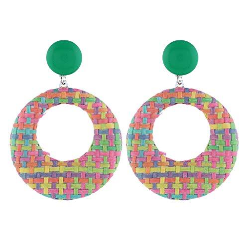 Voberry Elegant Bohemian Style Pearl Geometric Geometric Round Earrings Ladies Jewelry