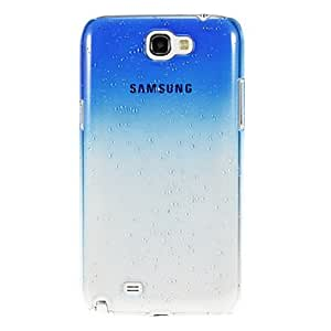 Purchase Raindrop Transparent Pattern Protective Plastic Hard Back Case for Samsung Galaxy Note2 N7100 , Black