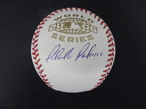 - Placido Polanco Autographed Signed Memorabilia 2006 World Series Baseball Autograph Auto Schwartz Sports - Certified Authentic