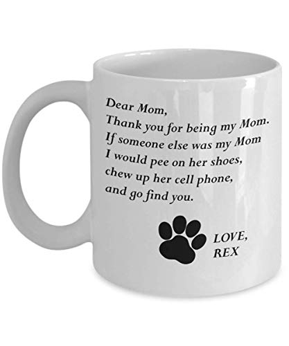 (MyFaveGift Customizable Personalized Dog Mom & Dad Custom Pet Name Coffee Mug Perfect Gift Idea For Birthday Graduation Christmas Father's Day Mother's Day Gifts From Fur Child Dog Lover Gifts 11oz)