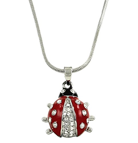 DianaL Boutique Adorable Little Ladybug Charm Pendant and Necklace on 21