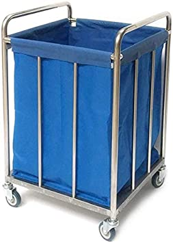 CART Carros de servicios médicos para el hogar Carros de mano Carro médico Carro de lino para hoteles de servicio pesado con ruedas Servicio de habitaciones Carro de clasificación de lavandería con t