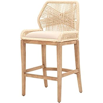 Amazon Com Orient Express Furniture Loom Barstool Sand Chairs