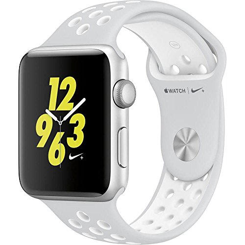 Apple Watch Nike+ 42mm Silver Aluminum Case Pure Platinum/White Nike Sport Band (Certified Refurbished) by Apple