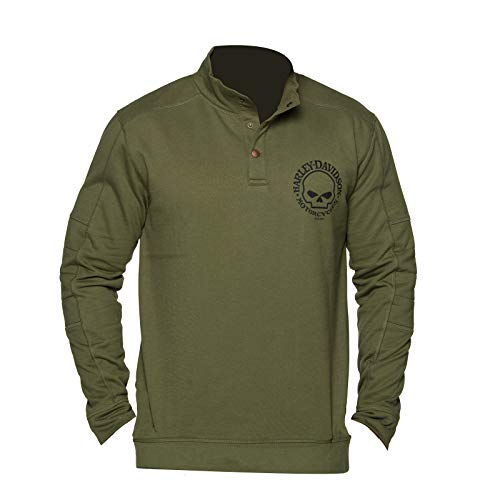 Harley-Davidson Military - Mens Pullover Fleece Sweatshirt with Front and Back Graphics - Overseas Tour   Valor