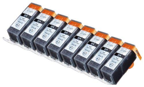 8 Pack Compatible Canon PGI-225 8 Big Black for use with Canon PIXMA iP4820, PIXMA iP4920, PIXMA iX6520, PIXMA MG5120, PIXMA MG5220, PIXMA MG6120, PIXMA MG5320, PIXMA MG6220, PIXMA MG8120, PIXMA MG8120B, PIXMA MG8220, PIXMA MX712, PIXMA MX882, PIXMA MX892