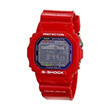 Casio GWX5600C-4 Mens G-Shock Tough Solar Red Plastic Resin Case and Bracelet Black Tone Digital Dial Tide Graph Moon Data Watch
