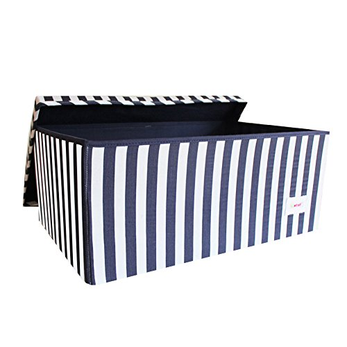 Minene, scatola sottoletto, 60 x 40 x 25 cm, Large, navy 1250