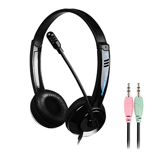 AKAIDE Gaming Headset With Noise Cancelling 3.5mm Over-Ear Stereo Gaming Headphone Microphone For No-Switch Mic (Black)
