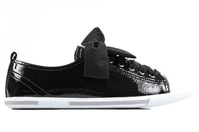 Prada scarpe sneakers donna in pelle naplak nero  Amazon.it  Scarpe e borse da58daca537