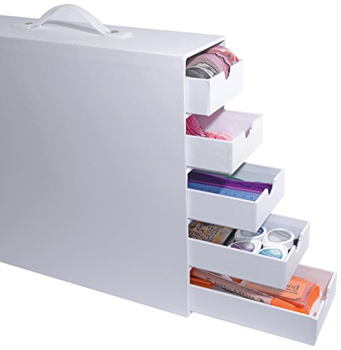 Totally-Tiffany Stash and Store 5-Drawer Case, White by Totally-Tiffany