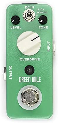 ギターエフェクター 2つのモードオーバードライブオーバードライブエレクトリックギターエフェクトペダルマイクログリーンマイルエフェクトペダルと3つのコントロールノブ ディストーション (Color : Green, Size : Free size)